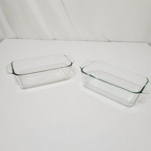 Pyrex lot of 2 Glass Baking Dishes
